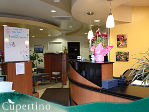 Cupertino Chiropractic Center Reception Area